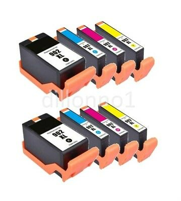 8 Pack 902 XL Ink Cartridges for HP Officejet Pro 6960 6968 6970 6975 6978