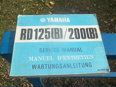 Oem Service Repair Manual Yamaha Rd125 Rd200 507-28197-80 Forks Engine Wheels