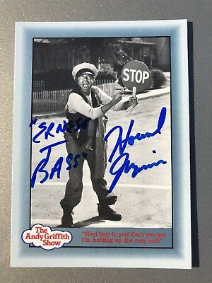 Howard Morris Ernest T AUTHENTIC HAND SIGNED Sports Card The Andy Griffith Show