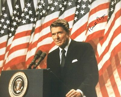 Ronald Reagan AUTHENTIC HAND SIGNED 8x10 Photo President