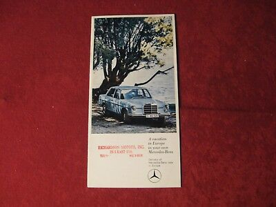 1966 Mercedes Benz Original Showroom Sales Brochure Old Booklet Catalog