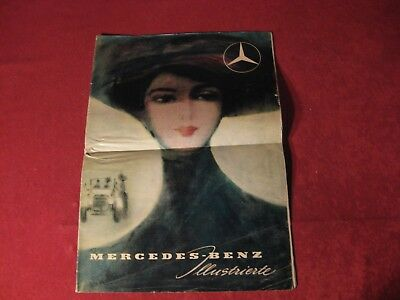 1950's Mercedes Benz Race Original Showroom Sales Brochure Old Booklet Catalog