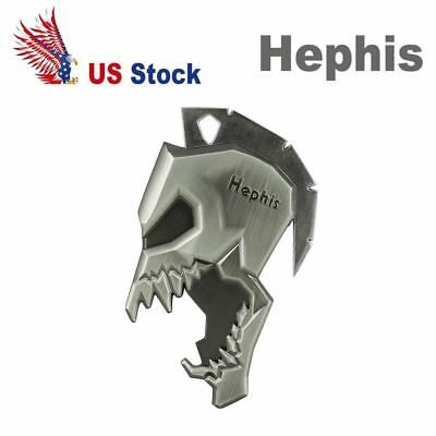 Hephis Keychain Bottle opener Spartan Skull Key Ring Silver and Copper Gift USA