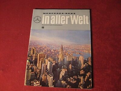 1963 Mercedes Benz Original Showroom Sales Brochure Old Booklet Catalog