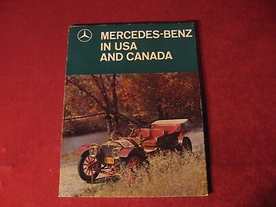 1960's Mercedes Benz Original Showroom Sales Brochure Old Booklet Catalog