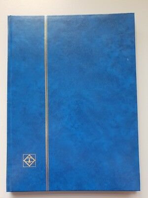 NEW - Lighthouse A4 32 white paged Stockbook with Blue cover L4/16