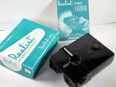 Stereo Realist Black Button viewer serviced by DrT + LED bulb - THE BEST!