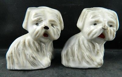 VINTAGE JAPAN Small Puppy Dog Terrier Yorkie Salt & Pepper Shakers