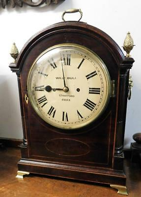 double fusee mahogany bracket clock bull essex for restore