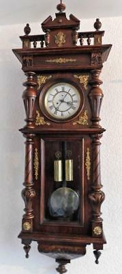 brass mounted double weight vienna wall clock