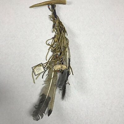 Navajo Peace Pipe Authentic Leather Wrapped Rare Native American Indian Artifact