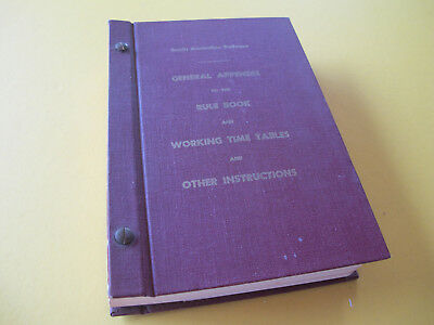 South Australian Railways Rule Book General Appendix Working Timetables