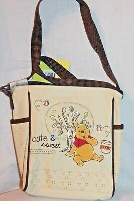 """New With Tags  Winnie The Pooh Cute And Sweet Mini Diaper Bag 8"""" X 9"""""""