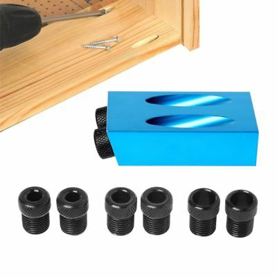 Woodworking Mini Pocket Hole Jig Kit 6/8/10mm Adapter Drill Guide Wood Tool