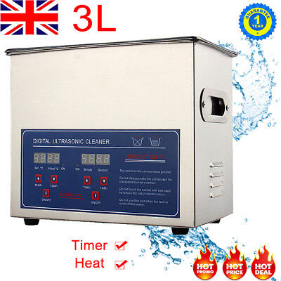 3L Digital Stainless Steel Ultrasonic Clean Cleaner Ultra Sonic Bath Timer Heate