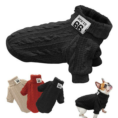 Dog Knitted Jumper Knitwear Clothes Warm Pet Puppy Sweater Coat Jacket Winter