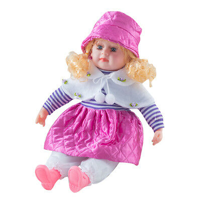 "24"" Lifelike Large Size Soft Bodied Baby Doll Girls Boys Toy With Sounds Xmas"