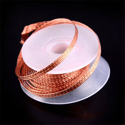 1.5M Length 2.5mm Width Braided Copper Wire Roll Desoldering Wick O5F8