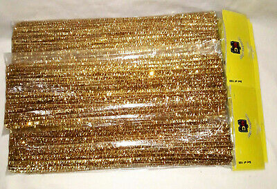 Chenille Stems - Metallic Gold - Pack Of 50