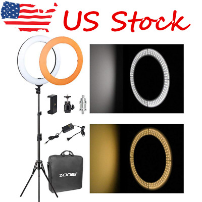 "SMD 18"" LED Ring Light Dimmable 5500K Continuous Lighting makeup Photo Video Kit"