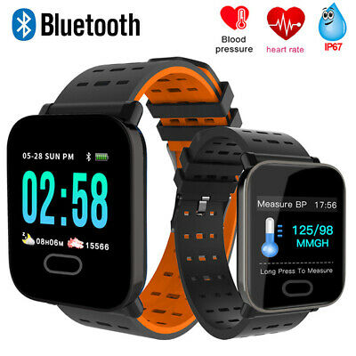 Bluetooth Smart Watch Heart Rate Monitor Bracelet Wristband for iPhone Android