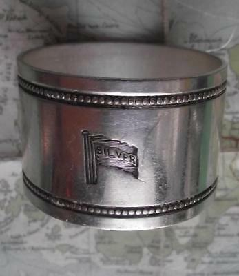 c1920 Original Emmigrant Ship SILVER LINE silver plated Napkin Ring B
