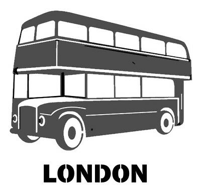 high detail airbrush stencil LONDON BUS TWO- FREE UK POSTAGE