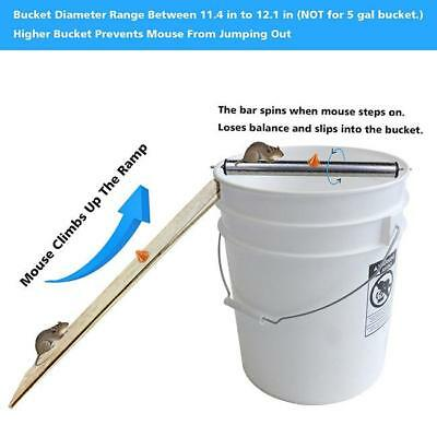 Stainless Mouse Trap Log Roll Bucket Rolling Mice Rats Stick Rodent Garden LC