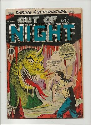Out of the Night 17 VG/F 5.0 Pre-Code ACG Horror Last Issue 1954