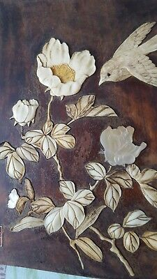 Wooden panel picture possiably chinese.