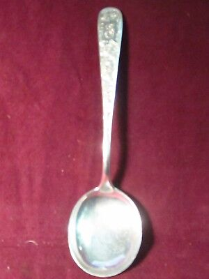 "Sterling Kirk & Son OLD MARYLAND ENGRAVED ROUND BOWL SPOON 6 1/4"" 37g mono F"