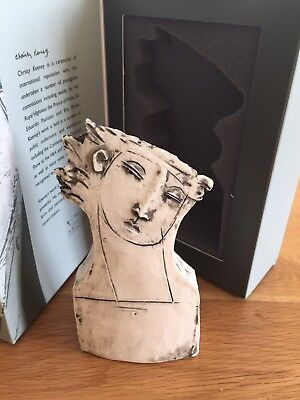 Rare Christy Keeney Head Sculpture -Limited Edition - For Launch Of Arcadia Ship