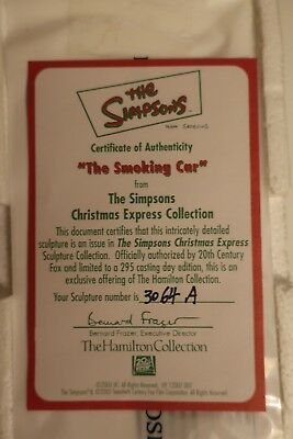 The Simpsons Christmas Express Hamilton Collection -- The Smoking Car