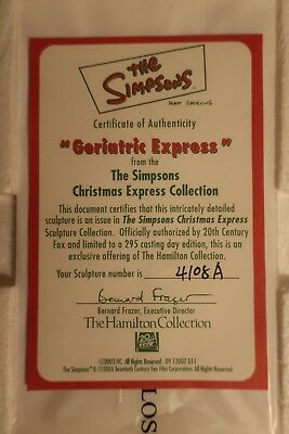 The Simpsons Christmas Express Hamilton Collection -- Geriatric Express