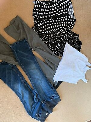 Size 14 Maternity Clothes Bundle - Jeans, Trousers, Cardie, Top