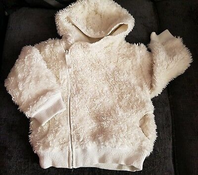 ☆ Stunning Next Cream Fluffy Jacket / Coat ☆ Fully Lined ☆ 3Yrs ☆
