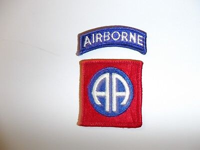 e1747 US Army Vietnam 82nd Airborne Division AA patch & tab original IR13T