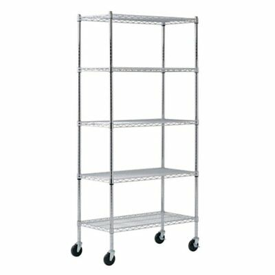 Sandusky Lee 36 x 18 x 72 in. Chrome Wire Commercial Shelving Unit