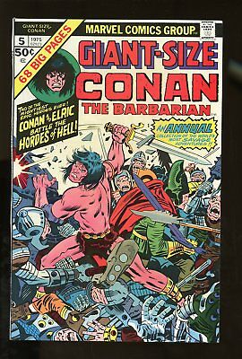 CONAN THE BARBARIAN #5 GIANT SIZE NEAR MINT- 9.2 1975 MARVEL COMICS #stp-136