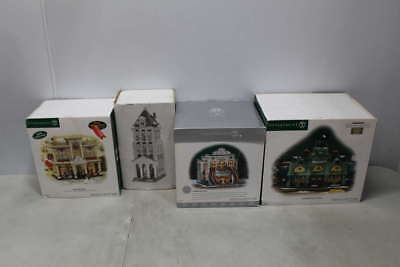 Lot of 4 Assorted Department 56 Christmas Village Buildings