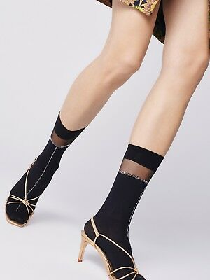 FiORE Elena Short Socks Ankle High Socks 40 Denier Metallic 3 Colors Available