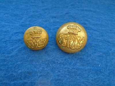 2 X 1855-1922 7Th Dragoon Guards (Princess Royals) Officers/or Buttons,jennens