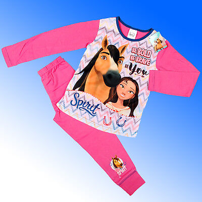 Girls Official Authentic Spirit Riding Free Lucky Pyjamas Age 4 -10 Years