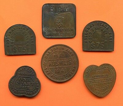 (QTY 6) ~ TOKENS ~ I AM GUESSING THESE ARE FANTASY TOKEN ~ LARGES IS 40mm
