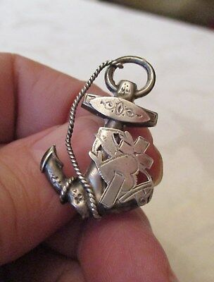 Antique solid silver Royal Navy military Sweetheart brooch / pin Birmingham 1899