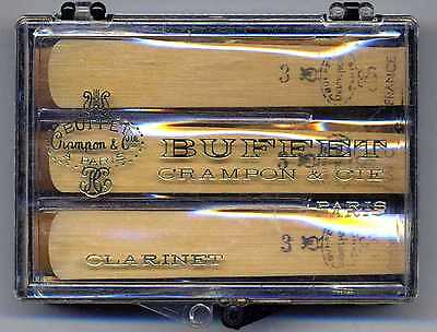 BUFFET Crampon Clarinet 6 (SIX) REEDS Vintage Stock  # 3,4,5 **FREE SHIPPING***