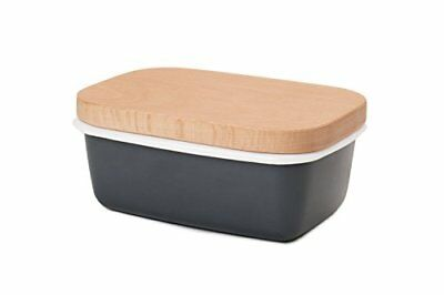 Ga Homefavor Butter Dish, Enamel Butter Container With Wooden Lid, By G.a Homefa