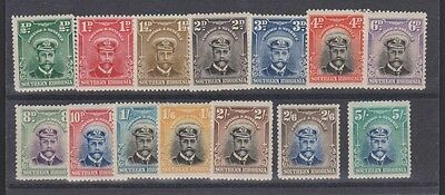SOUTHERN RHODESIA 1-14 1924-30 Geo V complete set used