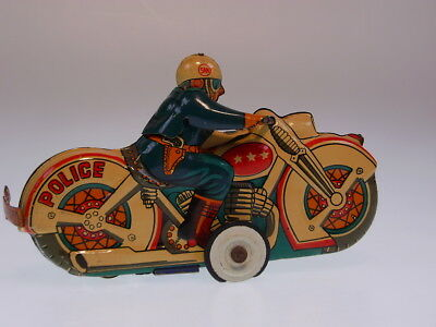 "GSMOTO ""POLICE WITH SIDECAR"" MARUSAN 1960s, 13cm, FR OK, SEHR GUT/VERY GOOD !"