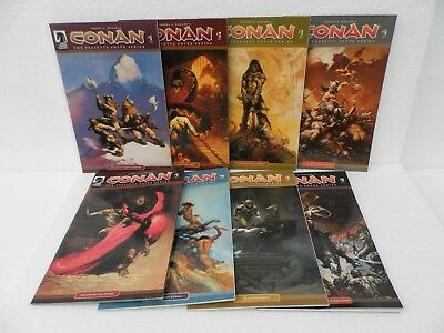 Conan ~ The Frazetta Cover Series ~ Complete Issues #1 - 8 ~ Dark Horse Comics